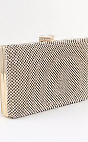 Handbag Silk/Crystal/ Rhinestone/Metal Evening Handbags/Bridal Purse With Crystal/ Rhinestone/Metal