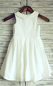 Vestido para Meninas das Flores - Linha-A Coquetel Sem Mangas Algodão