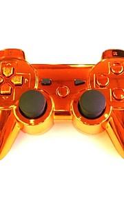 placcatura arancione wireless joystick bluetooth DualShock3 sixaxis ricaricabile controllore gamepad per Sony PS3
