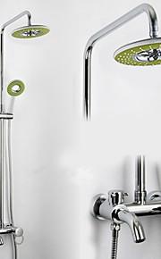 salle de bains mural mitigeur pluie robinet de douche serti de 8 pouces abs coloré douche de tête et douche à main