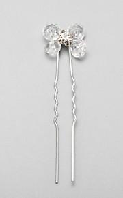 Celada Pasador de Pelo Boda/Ocasión especial Rhinestone/Cristal/Aleación Mujer/Niña de flor Boda/Ocasión especial 1 Pieza