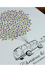 Finger Print Baloon and Car edding Singnature Tree, Wedding Guest Book Alternative