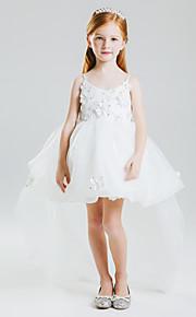 Vestido para Meninas das Flores - Baile Cauda Média Sem Mangas Cetim/Tule