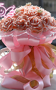 Cream/Purple/Blue/Pink/Red/White Round Roses Bouquets Wedding Flowers