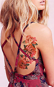 5Pcs/Set  Peony Sexy Fashion Waterproof Temporary Tattoo Sticker Flash tattoos