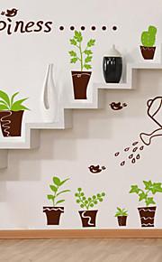 Botanisch / Cartoon Design / Romantik / Mode / Formen Wand-Sticker Flugzeug-Wand Sticker , PVC 40CM×60CM×0.1CM