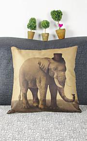 elefant örngott soffa heminredning kuddfodral (17 * 17 tums)