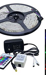 JIAWEN® 5 M 300 3528 SMD Rouge Vert Bleu Découpable / Connectible 25 W Bandes Lumineuses LED Flexibles AC100-240 V