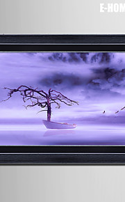 E-HOME® Framed Canvas Art, Water And Wood Board Framed Canvas Print