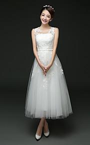 Robe de Mariage  - Blanc Trapèze Tour du Cou Mollet Mollet