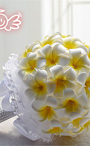 Romantic Yellow Round Mariage Bouquets Wedding Flowers