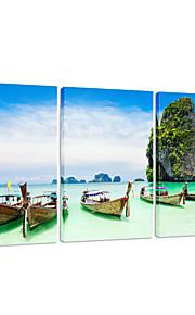 toile impression visuelle star®boat triptyque paysage naturel art mural prêt à accrocher