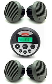 impermeabile ricevitore radio stereo atv utv audio marino + 2 coppie 3 altoparlanti impermeabili pollici