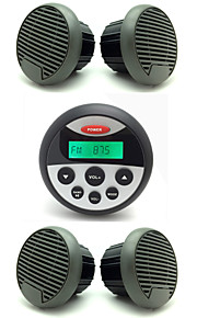 Waterproof Marine Radio Stereo ATV UTV Audio Receiver+2 Pairs 3 Inch Waterproof Speakers