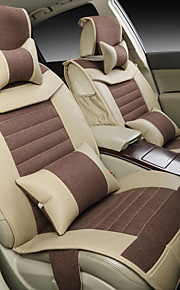 Car Seat Leather And Flax Buckwheat Health Care seasons Cushion Set Of General Seat Cover Rear 125-133-140 Cm