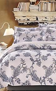 elegante conjunto de cama floral de 4pcs tecido lixa grossa para o Outono&temporadas de Inverno uso