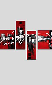 oljemaleri sett fire moderne abstrakt, canvas materiale med strukket ramme klar til å henge størrelse: 50 * 70cm * 2 stk 25 * 70cm * 2stk.