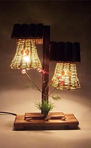 러스틱/ 럿지 - 데스크 램프 - 눈 보호 - 나무/대나무