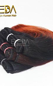 новые 3шт / комплект Ombre человек девственница короткие волосы ткать мокрый волнистые Ombre 2 тон цвет # 1B / 35 8inch 6 цветов Доступный