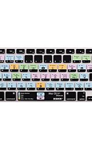 XSKN os x snelkoppeling overlay siliconen toetsenbord dekking voor macbook pro lucht netvlies 13 '' 15 '' 17 '' eu ons versie