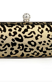 Women PU Minaudiere Clutch / Evening Bag - Purple / Gold / Silver