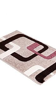 Tepetes de Banheiro - Cinzento / Castanho Claro / Como na Imagem - DE Mistura Poliéster/Algodão - ESTILO Moderno