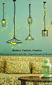 Cartoon Design / Musik / Romantik / Mode / Formen Wand-Sticker Flugzeug-Wand Sticker , PVC 70CM×50CM×0.1CM