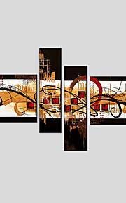 oliemaleri sæt af 4 moderne abstrakt, lærred materiale med strakte ramme klar til at hænge størrelse: 50 * 70cm * 2 stk 25 * 70cm * 2stk.