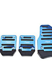 xb373 diy pedale antiscivolo per auto - rosso - blu - argento