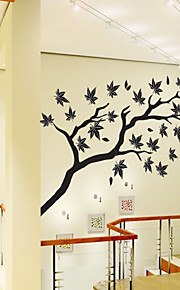 Wall Stickers Wall Decals Style Maple Leaves PVC Wall Stickers