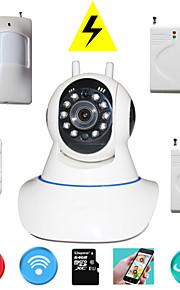 pan tilt ip kamera wifi PTZ 720p megapixel hd tf sd kort ip cam med trådløs tyverialarm detektor til sikkerhed i hjemmet