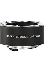 Kooka kk-p25 af (25mm) verlengstuk instellen voor Pentax dslr en k-01 camera's