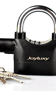 joyluxy goldiger alarm lock anti-diefstal beveiliging bewegingssensor hangslot met 3 sleutels en 6 vervangende batterijen