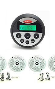 waterdichte marifoon stereo atv utv audio-ontvanger + 2 paar 4 inch waterdichte luidsprekers