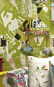 Floral Papier peint Contemporain Revêtement , Papier pur Wallpaper magazine cover
