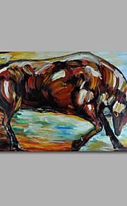 håndmalede olie maleri på lærred væg kunst tunge olier dyr tyr hjem deco et panel klar til at hænge