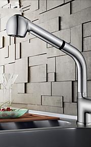 Keukenkraan Modern Met uitneembare spray / Handdouche Messing Chroom