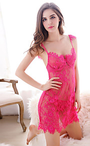 Women Sexy Embroidery Chemises & Gowns / Lace Lingerie Nightwear , Nylon / Polyester
