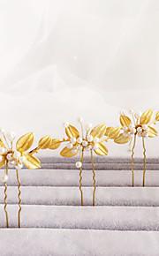 Celada Pasador de Pelo Boda / Ocasión especial Aleación / Perla Artificial Mujer / Niña de flor Boda / Ocasión especial 1 Pieza