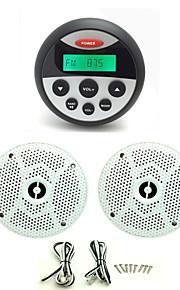 waterdichte marifoon stereo atv utv audio-ontvanger + 1 paar 6.5 inch waterdichte luidsprekers