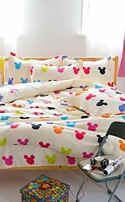 mingjie® fumetto mich queen giallo e dimensione doppia assestamento levigatura regola 4pcs per ragazzi e ragazze biancheria da letto cina
