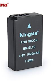 Kingma en-EL20 bmpcc digitale camera batterij voor Nikon Coolpix een j1 j2 j3 s1 AW1 mh-27