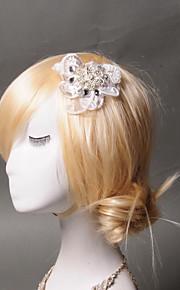 Hårspännen Headpiece Dam Bröllop / Speciellt Tillfälle / Casual Spets / Strass / Tyll Bröllop / Speciellt Tillfälle / Casual 1 st.