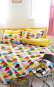 mingjie® foglie colorate amore regina blu e singoli di dimensioni set di biancheria da letto levigatura 4pcs per i ragazzi e le ragazze