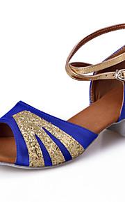 Zapatos de baile ( Negro / Azul / Rosado / Rojo ) - Danza latina / Dance Sneakers / Salsa / Flamenco / Samba - Personalizados -Tacón