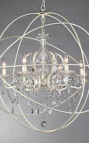 Kattokruunu - Metalli - Vintage - Kristalli