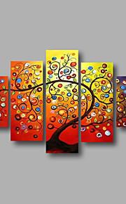 listo para colgar estiradas árboles aceite de pintura de la lona de la pared de la flor del arte pintado a mano enmarcado flores moderna