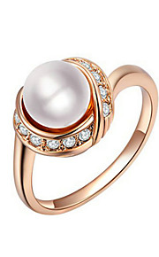 Women's Alloy Ring Imitation Pearl Alloy