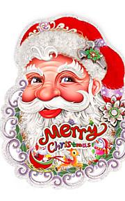 пара Рождеством стекаются Санта-Клауса голова 3d стены стикеры стены наклейки дизайн является случайным