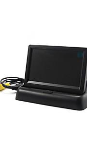 """dearroad 4,3 """"foldbar TFT LCD bil vende ede sikkerhed monitor til kamera dvd vcr"""